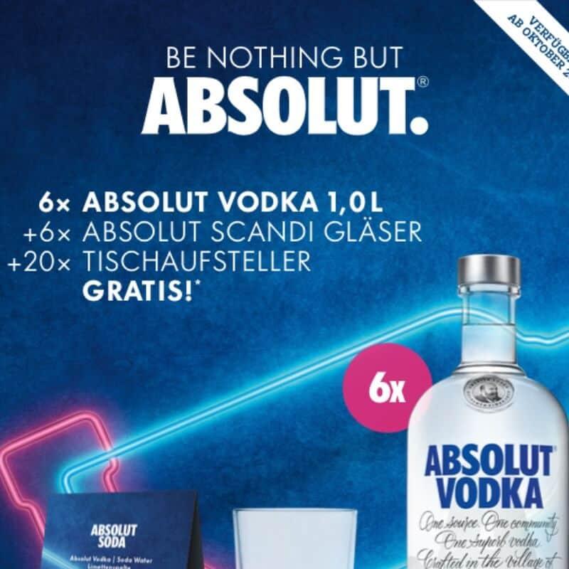 Absolut Wodka Aktion Oktober 2020