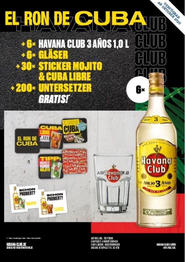 Havana Club Aktion Oktober 2020