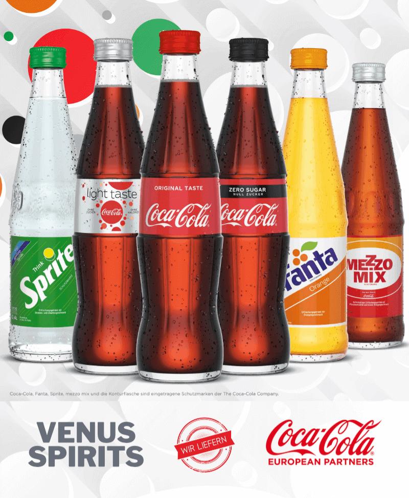 400ml Glasflaschen Coca Cola